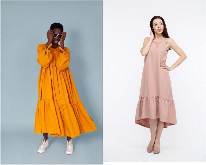 Широкие и роскошные: самые модные расклешенные платья 2021-2022 года 12