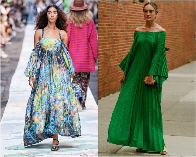 Широкие и роскошные: самые модные расклешенные платья 2021-2022 года 13
