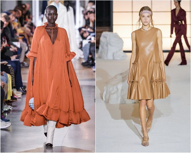 Широкие и роскошные: самые модные расклешенные платья 2021-2022 года 18