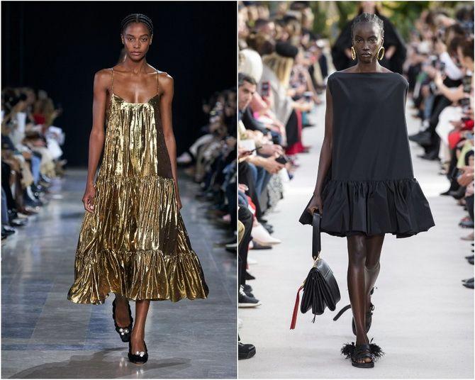 Широкие и роскошные: самые модные расклешенные платья 2021-2022 года 2