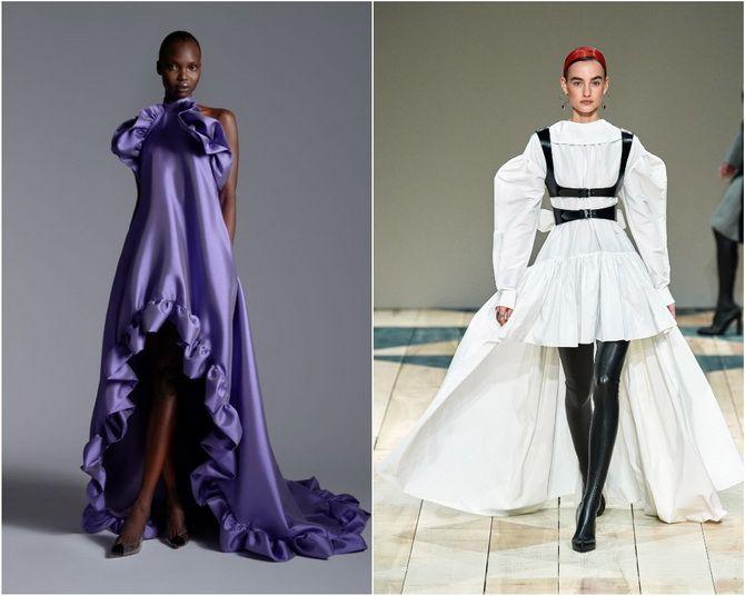 Широкие и роскошные: самые модные расклешенные платья 2021-2022 года 21