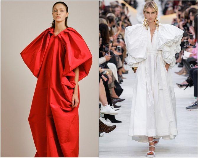 Широкие и роскошные: самые модные расклешенные платья 2021-2022 года 23