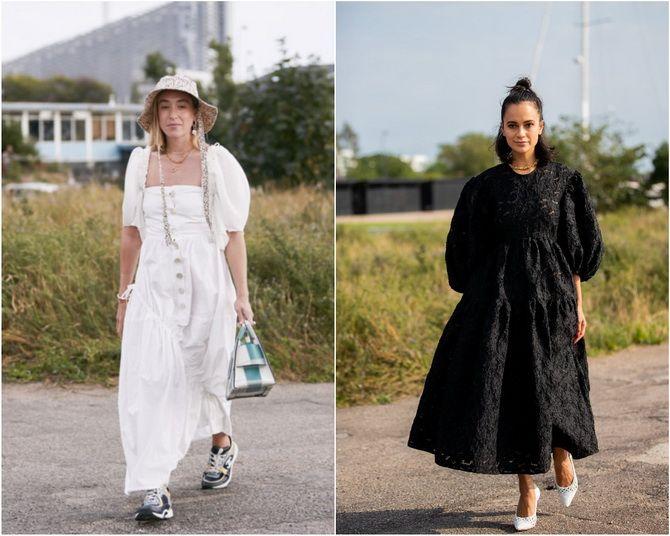 Широкие и роскошные: самые модные расклешенные платья 2021-2022 года 24