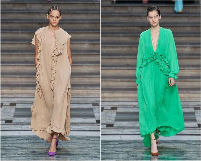 Широкие и роскошные: самые модные расклешенные платья 2021-2022 года 25