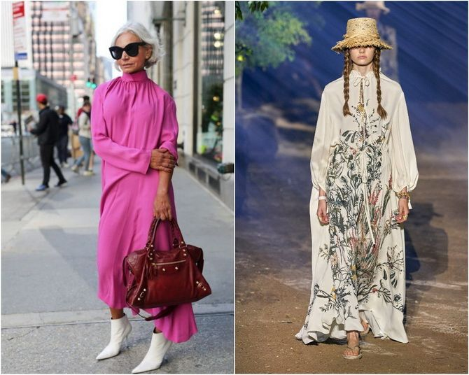 Широкие и роскошные: самые модные расклешенные платья 2021-2022 года 26