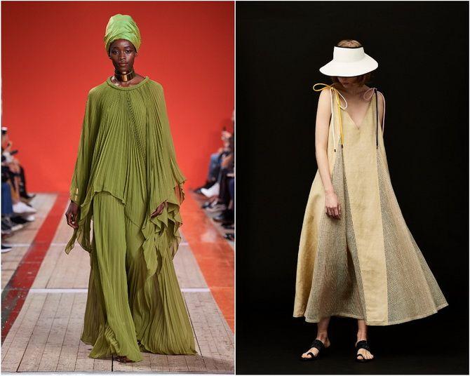 Широкие и роскошные: самые модные расклешенные платья 2021-2022 года 27