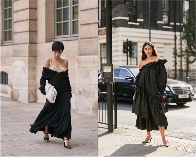 Широкие и роскошные: самые модные расклешенные платья 2021-2022 года 28