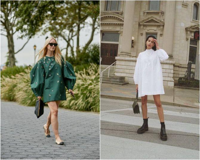 Широкие и роскошные: самые модные расклешенные платья 2021-2022 года 30
