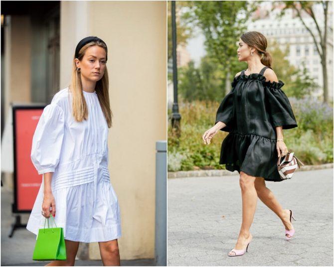 Широкие и роскошные: самые модные расклешенные платья 2021-2022 года 31