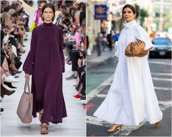 Широкие и роскошные: самые модные расклешенные платья 2021-2022 года 6