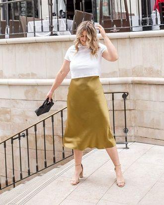 Без ограничений: модные летние юбки для полных женщин 2020 16