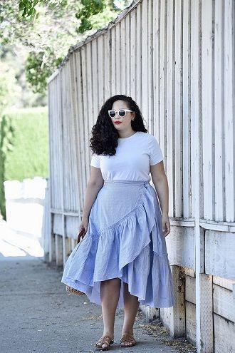 Без ограничений: модные летние юбки для полных женщин 2020 21