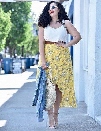 Без ограничений: модные летние юбки для полных женщин 2020 19