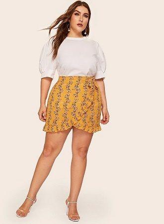 Без ограничений: модные летние юбки для полных женщин 2020 22