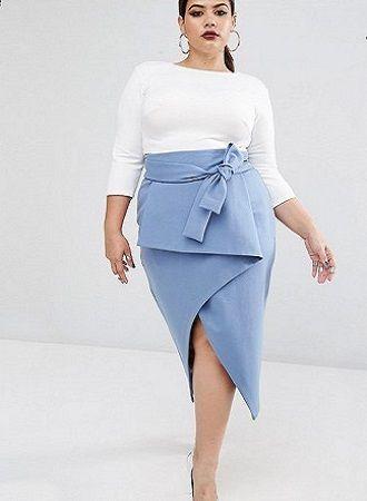 Без ограничений: модные летние юбки для полных женщин 2020 23