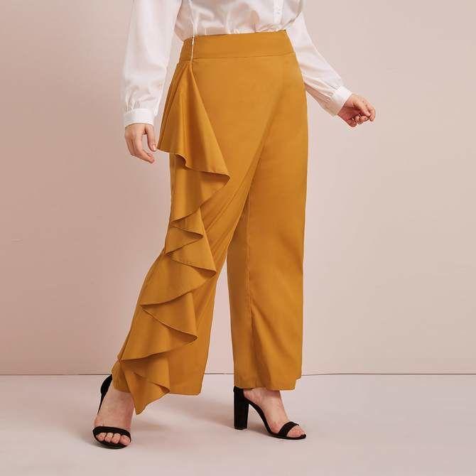 Летние брюки для полных: актуальные тренды 2020-2021 года 23