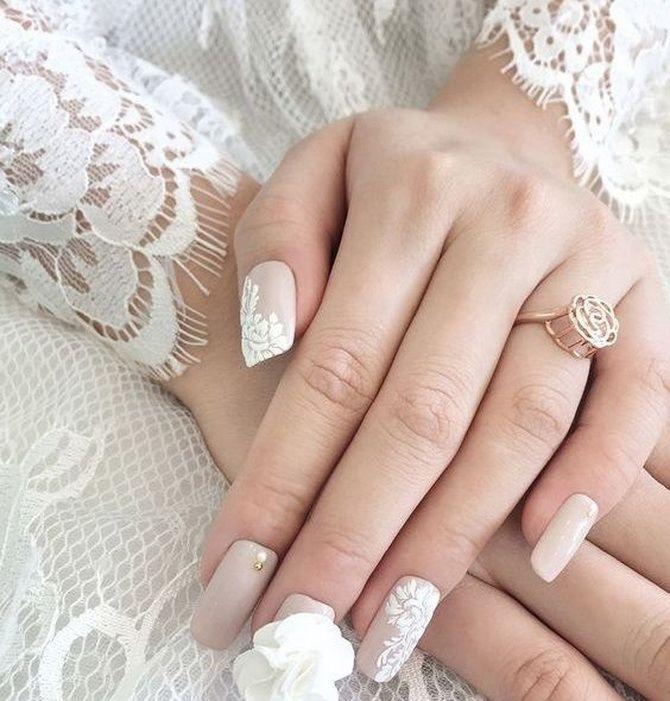 Свадебный маникюр 2020: ноготки на высшем уровне 11