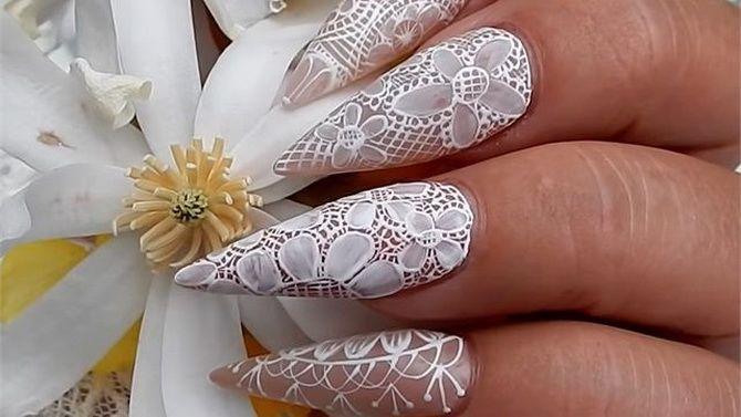 Весільний манікюр 2020: нігтики на вищому рівні 12