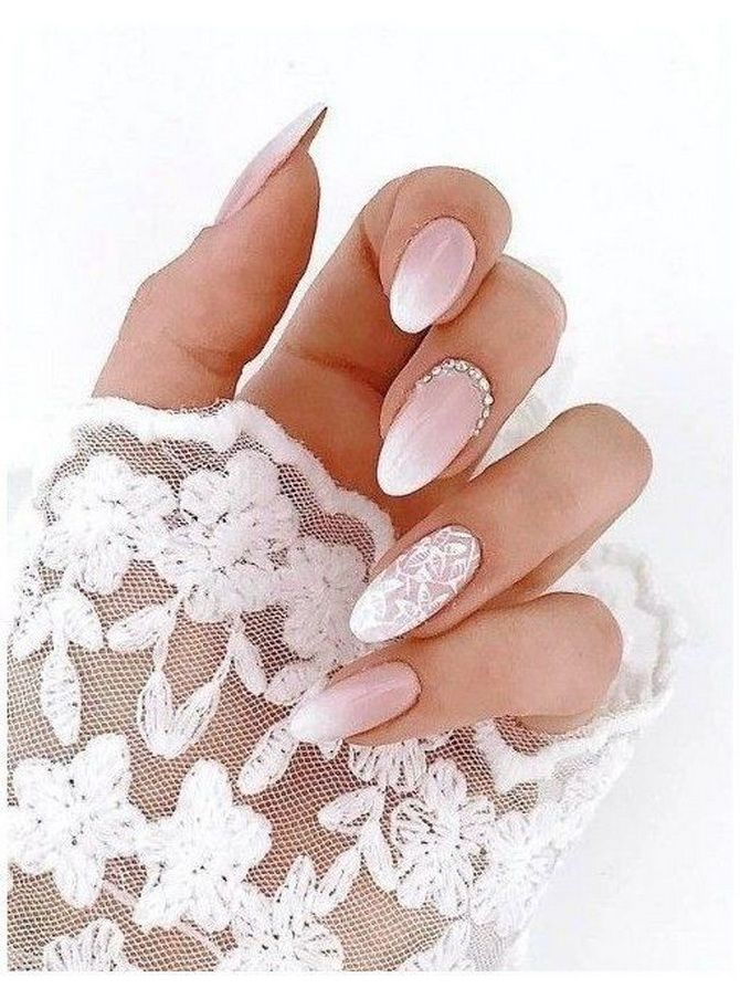 Весільний манікюр 2020: нігтики на вищому рівні 14