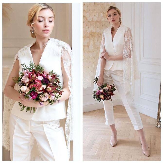 Свадебные костюмы для невест: стильные идеи для особенного дня 13