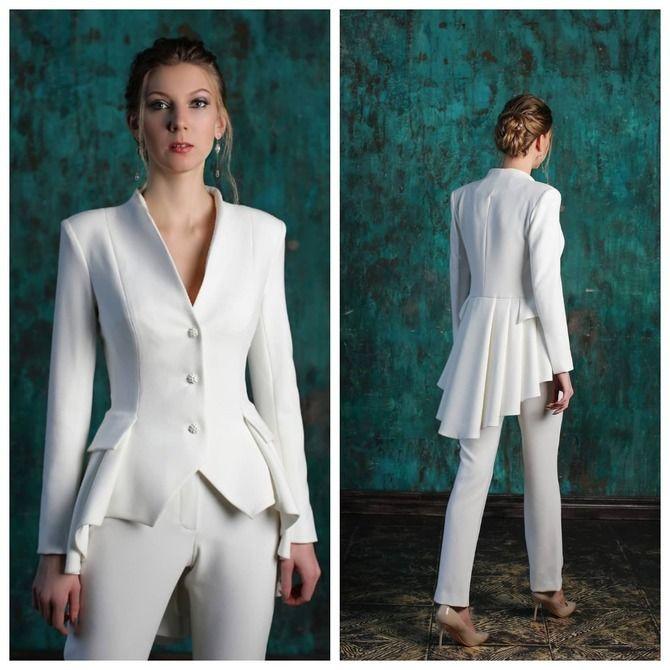 Свадебные костюмы для невест: стильные идеи для особенного дня 14