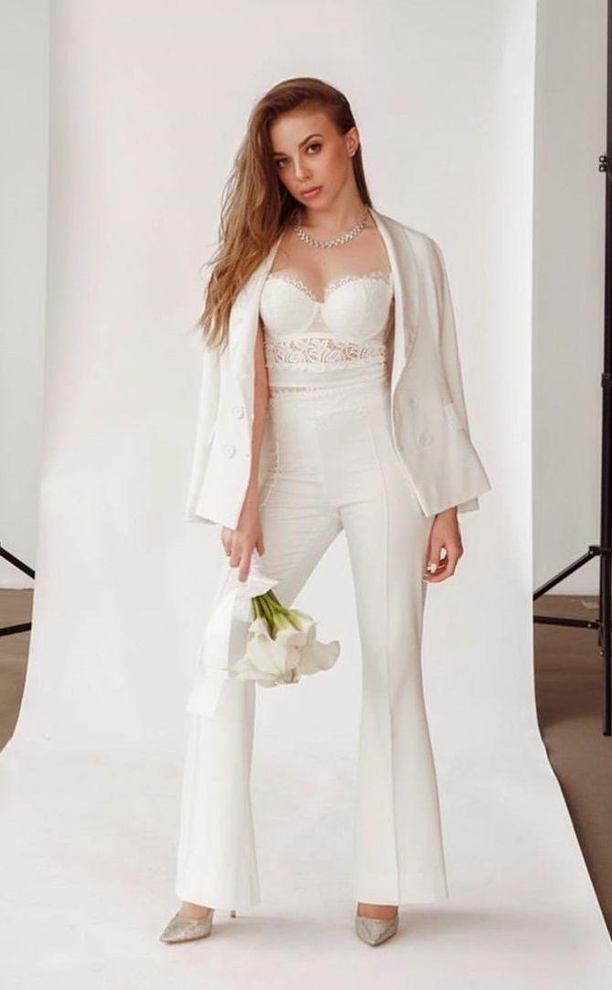 Свадебные костюмы для невест: стильные идеи для особенного дня 16