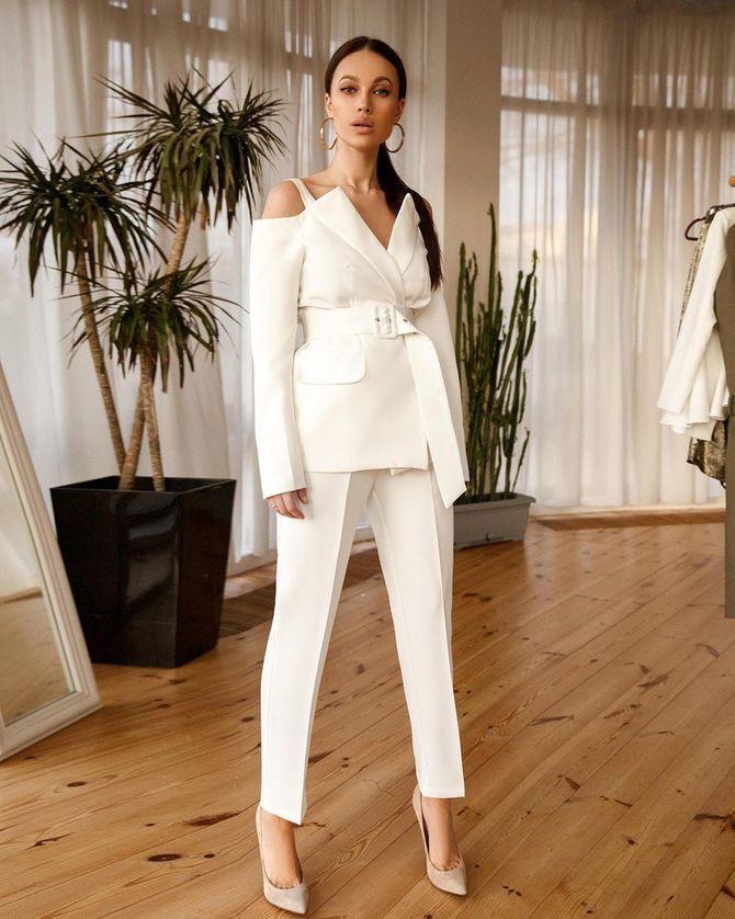 Свадебные костюмы для невест: стильные идеи для особенного дня 19