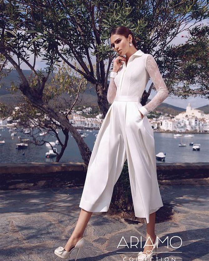 Свадебные костюмы для невест: стильные идеи для особенного дня 27