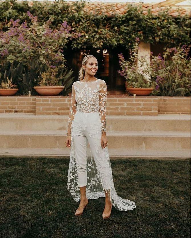 Свадебные костюмы для невест: стильные идеи для особенного дня 26