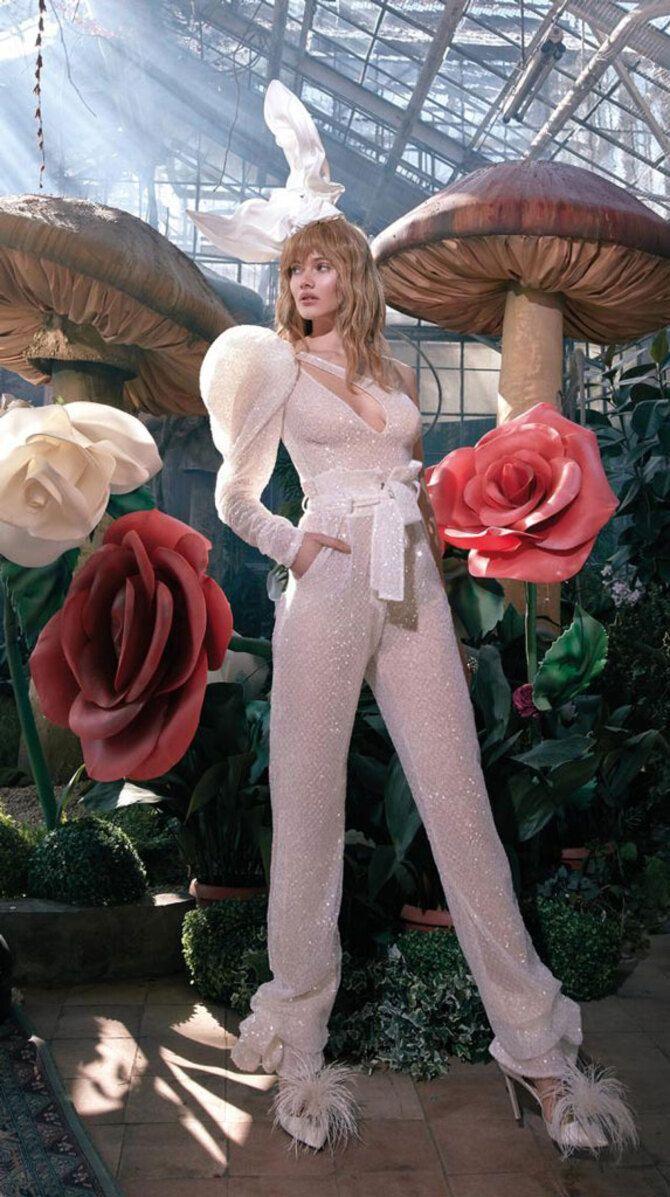 Свадебные костюмы для невест: стильные идеи для особенного дня 43