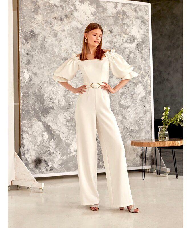 Свадебные костюмы для невест: стильные идеи для особенного дня 44