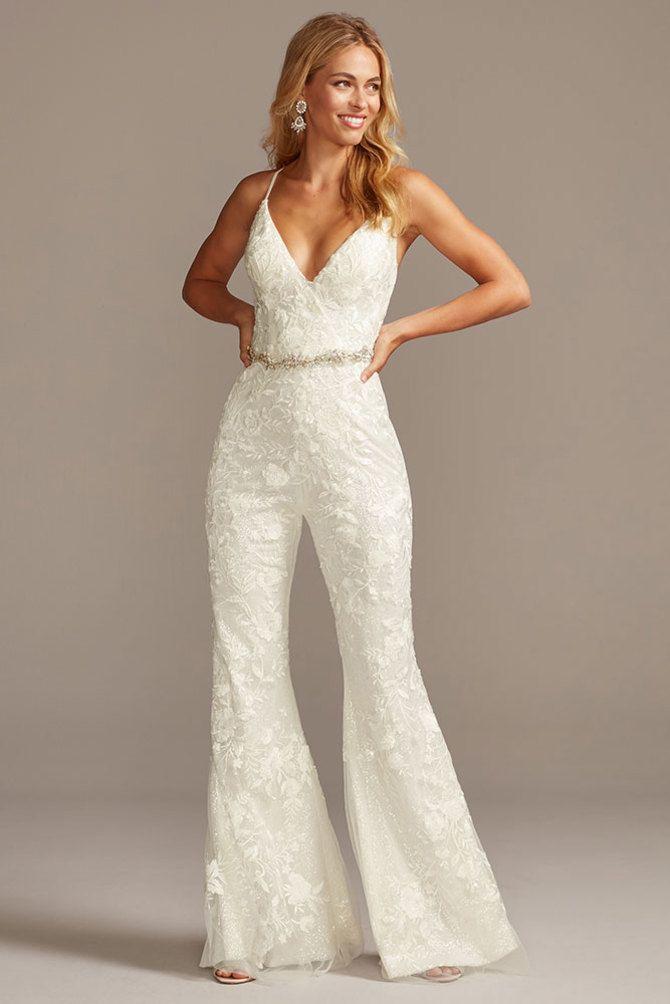 Свадебные костюмы для невест: стильные идеи для особенного дня 47