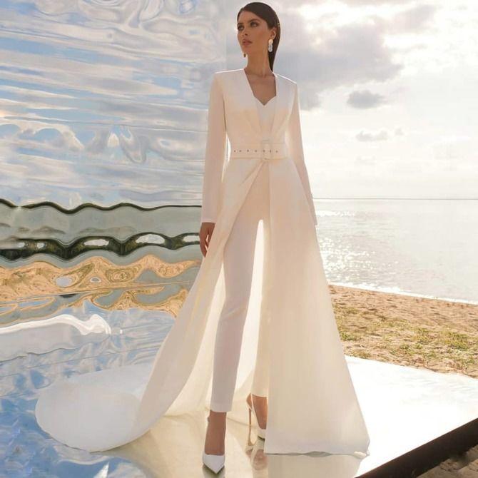 Свадебные костюмы для невест: стильные идеи для особенного дня 49