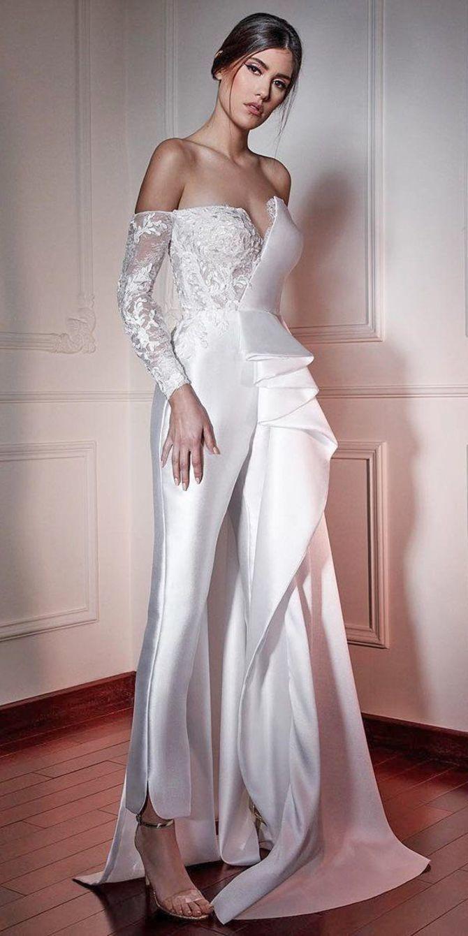 Свадебные костюмы для невест: стильные идеи для особенного дня 48