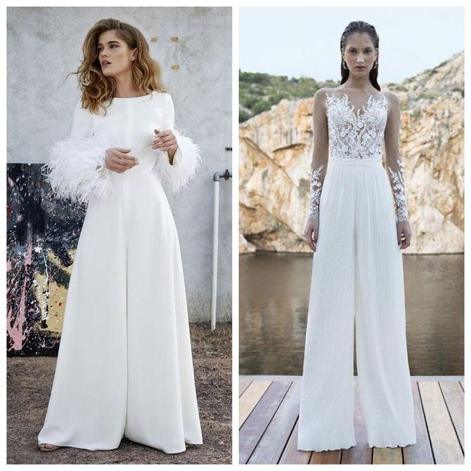Свадебные костюмы для невест: стильные идеи для особенного дня 52