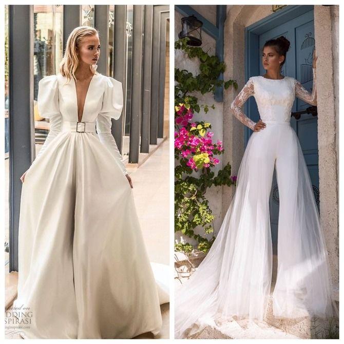 Свадебные костюмы для невест: стильные идеи для особенного дня 53
