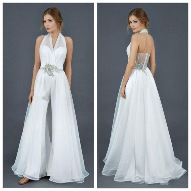 Свадебные костюмы для невест: стильные идеи для особенного дня 54