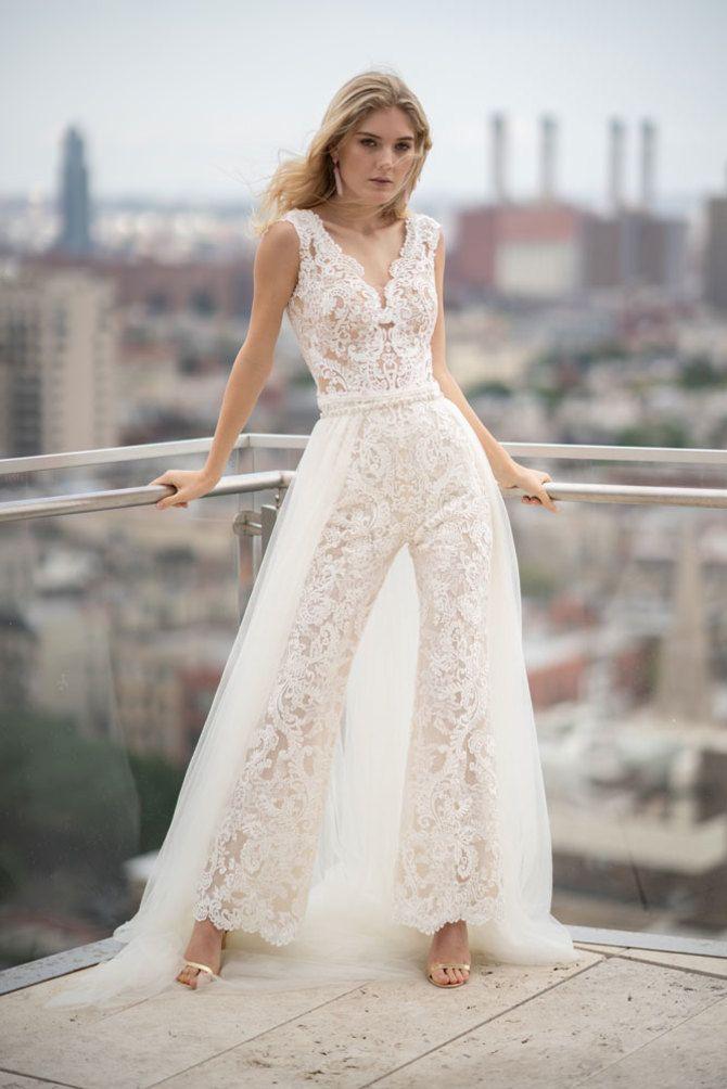 Свадебные костюмы для невест: стильные идеи для особенного дня 58