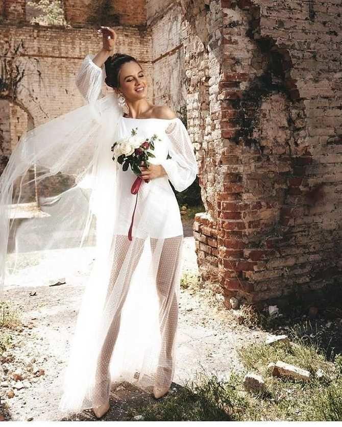 Свадебные костюмы для невест: стильные идеи для особенного дня 59