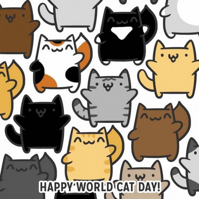 Привітання в День кішок 2020