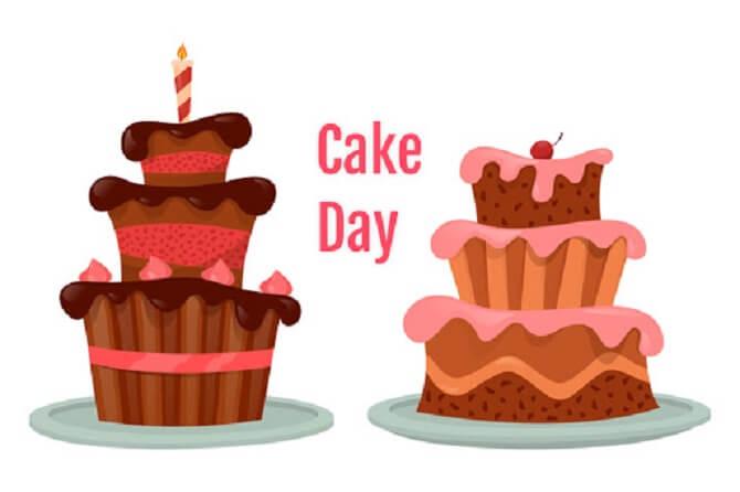 привітання з днем торта