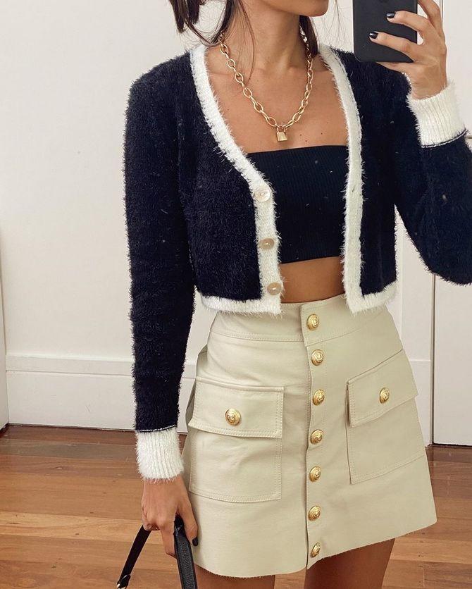 Короткий кардиган – модный атрибут осеннего гардероба 2021-2022 1