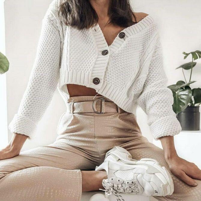 Короткий кардиган – модный атрибут осеннего гардероба 2021-2022 11