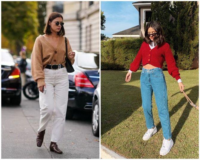 Короткий кардиган – модный атрибут осеннего гардероба 2021-2022 14