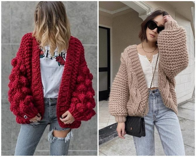 Короткий кардиган – модный атрибут осеннего гардероба 2021-2022 15