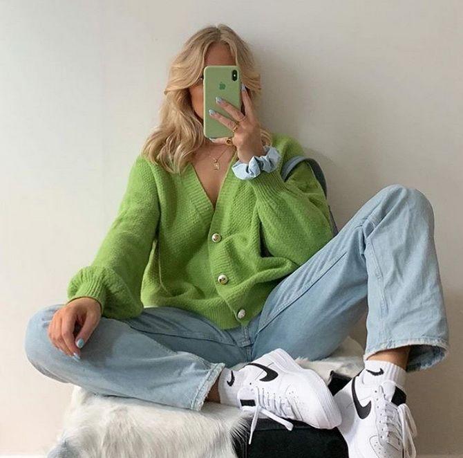 Короткий кардиган – модный атрибут осеннего гардероба 2021-2022 16