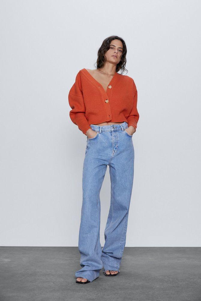 Короткий кардиган – модный атрибут осеннего гардероба 2021-2022 27