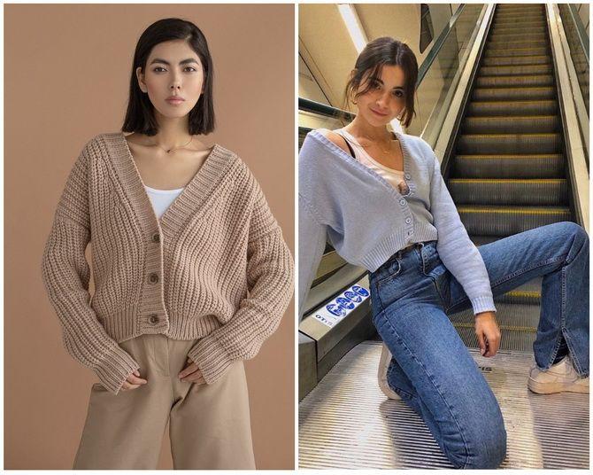 Короткий кардиган – модный атрибут осеннего гардероба 2021-2022 4