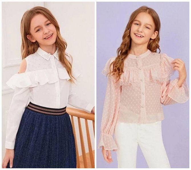 Шкільні блузки для дівчаток: створюємо сучасний образ у 2021-2022 році 1