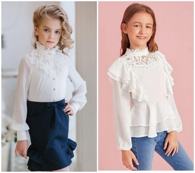 Шкільні блузки для дівчаток: створюємо сучасний образ у 2021-2022 році 10